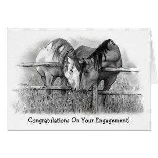 ENGAGEMENT CONGRATS: HORSE LOVERS GREETING CARD