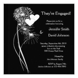 Engagement Fireworks Invitation