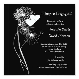 Engagement Fireworks Invitation