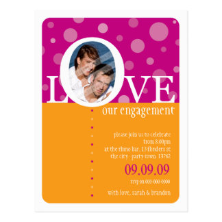 ENGAGEMENT INVITATION :: LOVEbubbles 3 Postcard
