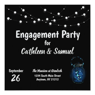 Engagement Party Firefly Night Card