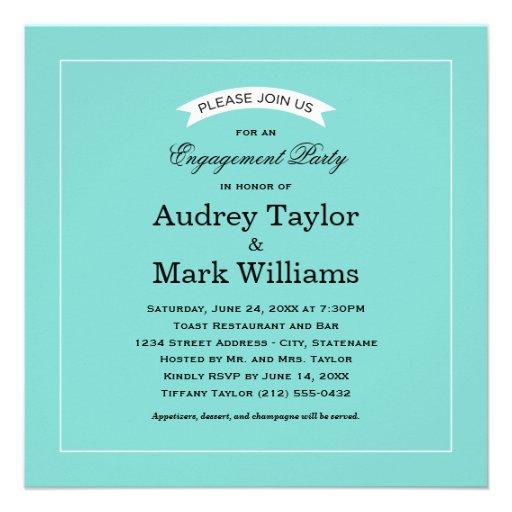 Engagement Party Invitation | Little Blue Box