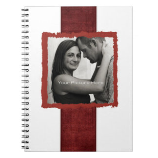 Engagement Photo Rustic Vintage Wedding Notebook