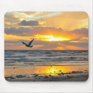 Engagement Proposal Sunrise on the Beach Mousepad