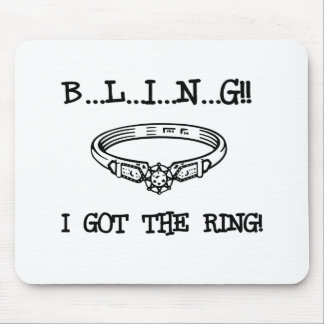Engagement Ring Bling Mouse Pad