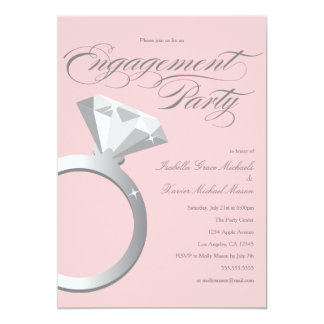 Engagement Ring - Blush| Engagement Party Invite