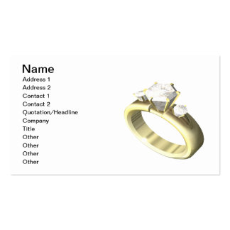 Engagement Ring Pack Of Standard Business Cards