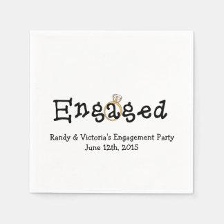 Engagement Ring Engagement Party Paper  Napkins Disposable Serviette