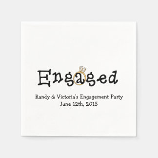 Engagement Ring Engagement Party Paper  Napkins Paper Napkin
