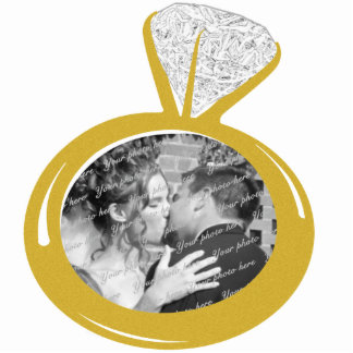 Engagement Ring Photo ornament Photo Sculpture Decoration