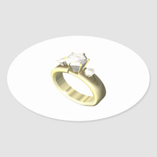 Engagement Ring Oval Stickers