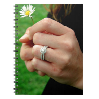 Engagement ring with Daisy Spiral Notebook