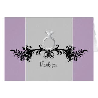 Engagement Shower Thank You Cards {Purple}