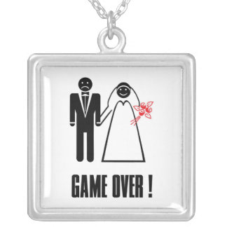 Engagement Wedding Bridal Necklace Game Over!