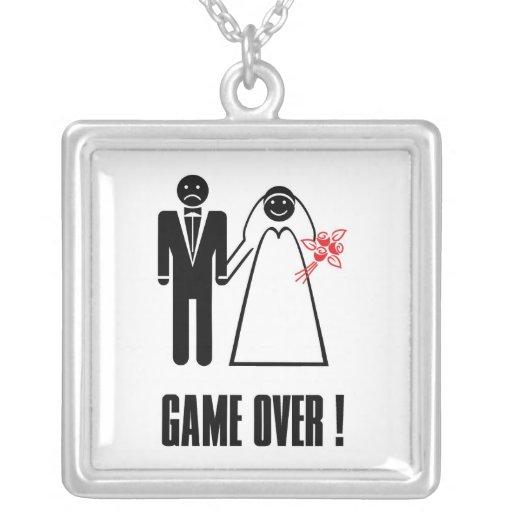 Engagement Wedding Bridal Necklace Game Over!