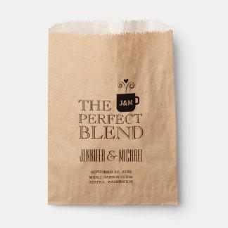 Engagement Wedding Coffee or Tea Buffet Favour Bag