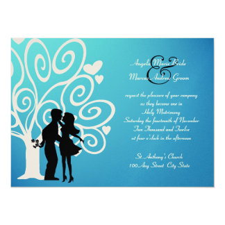 Engagement/ Wedding Silhouette Card