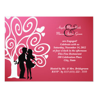 Engagement/ Wedding Silhouette Personalized Invitations