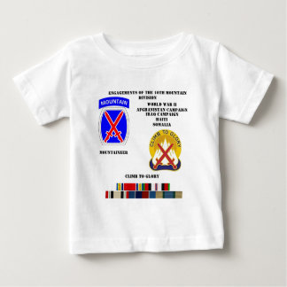 Engagements of  the 10th Mountain division Baby T-Shirt