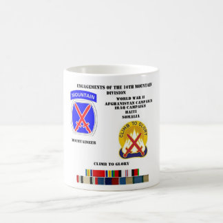 Engagements of  the 10th Mountain division Magic Mug