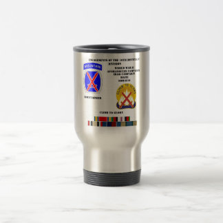 Engagements of  the 10th Mountain division Travel Mug