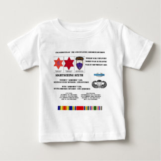 Engagements of  the 6th Infantry/Airborne Division Baby T-Shirt