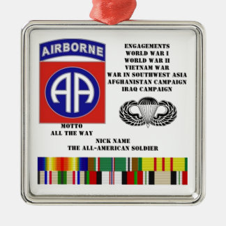 Engagements of  the 82nd  airborne division metal ornament