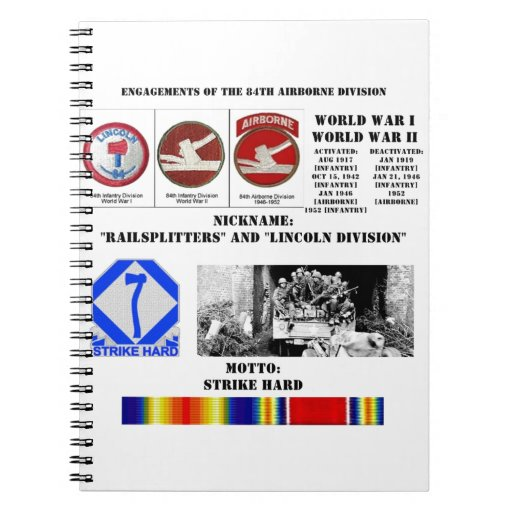 Engagements of  the 84th Airborne Division Spiral Notebooks