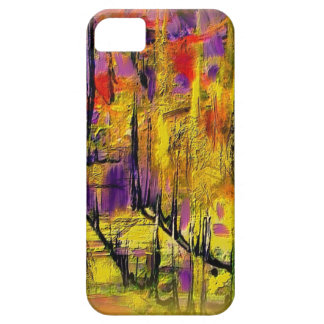 Engaging Yellow and Black Abstract Case For The iPhone 5