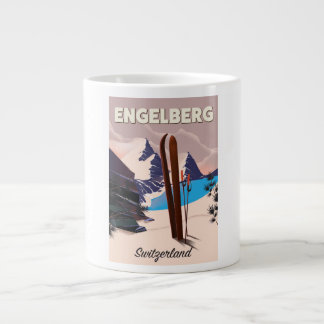 Engelberg Switzerland Ski travel poster Large Coffee Mug