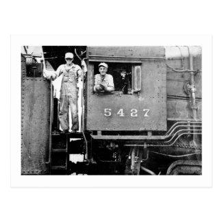 Engine 5427 Vintage Locomotive Steam Engine Postcard
