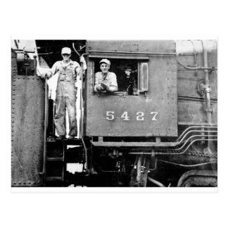 Engine 5427 Vintage Locomotive Train Engine Postcard