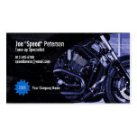 Engine Blue Motorbike Service Business Card