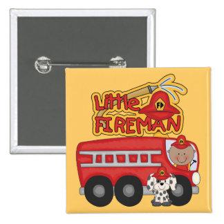 Engine Little Fireman African American Tshirts 15 Cm Square Badge