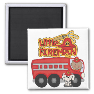 Engine Little Fireman African American Tshirts Refrigerator Magnet