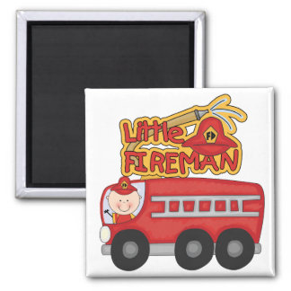 Engine Little Fireman Tshirts and Gifts Refrigerator Magnets