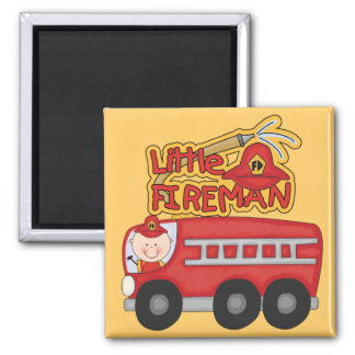 Engine Little Fireman Tshirts and Gifts Fridge Magnet