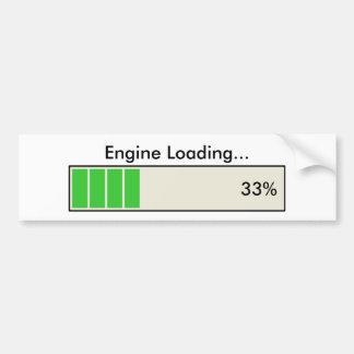 Engine Loading 33 percent Car Bumper Sticker