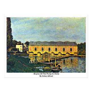 Engine Of The Pump In Marly By Sisley Alfred Postcard