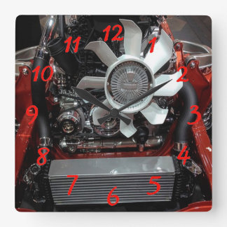 Engine Square Wall Clock