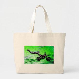 Engine stunt man large tote bag