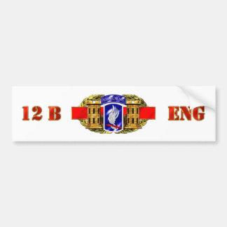 ENGINEER 12B 173RD CAR BUMPER STICKER