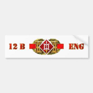ENGINEER 12B 18TH EN BDE BUMPER STICKER