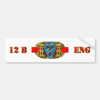 ENGINEER 12B 36th Infantry Division Bumper Sticker