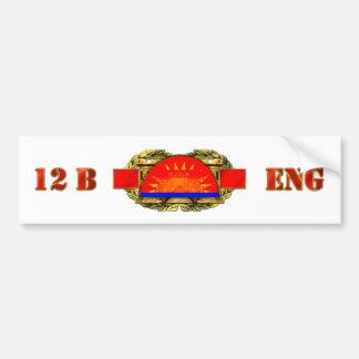 ENGINEER 12B 41st Infantry Brigade Combat Team Bumper Sticker