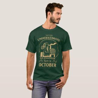 Engineer Born In October T-Shirt