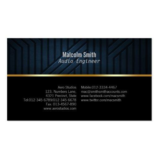 Engineer Business Card Dark Texture