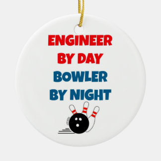 Engineer by Day Bowler by Night Ceramic Ornament
