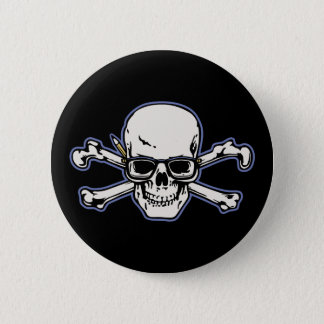 Engineer & Crossbones 6 Cm Round Badge