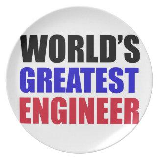 engineer designs dinner plate